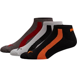 Men's No Show Bamboo Socks [3 Pack], ORANGE, small
